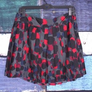 Kensie Size Polka Dot Pleated Flirty Skirt
